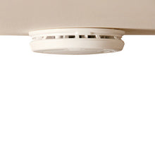 Smoke alarm on ceiling