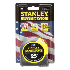 Stanley FATMAX tape measure 25 feet.