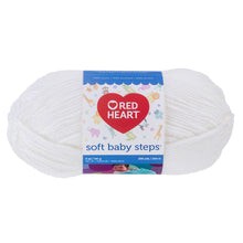 White Soft Baby Steps Yarn.