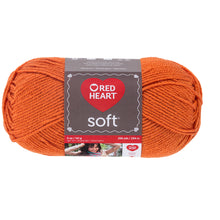 Tangerine Soft Red Heart Yarn.