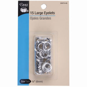 Dritz Large Nickel Eyelets S-33575-65