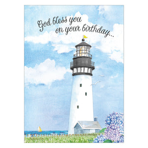 Lighthouse birthday card.