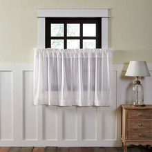 Curtains White Ruffled tier VHC curtains.
