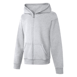 Gray girls hood sweater.