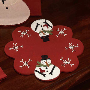 Christmas candle mat