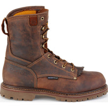 Rugged-looking Carolina Shoe leather work boots.