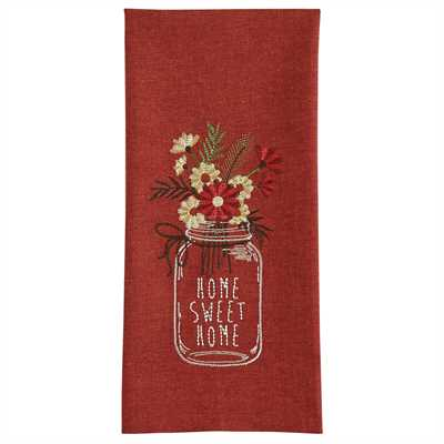 home sweet home wildflower jar decorative kitchen towel park designs