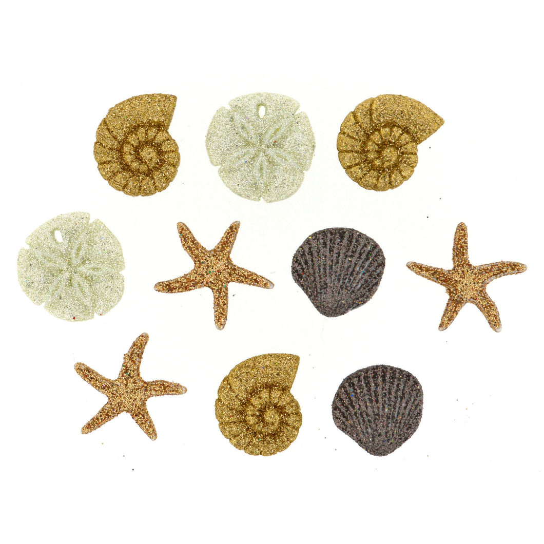 Seashells at the Seashore Buttons