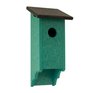 Teal Bluebird house.