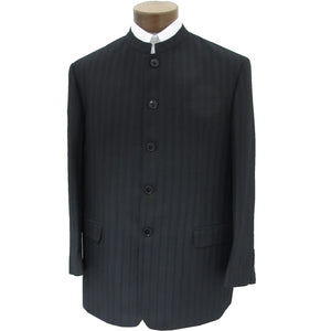 Mens suit coat with black stripe