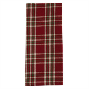 Plaid dish towel.