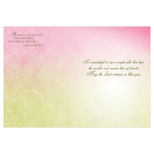 Interior of floral anniversary cards.