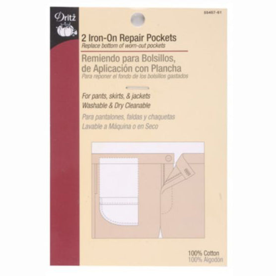 Dritz Iron On Repair Pockets S-55457