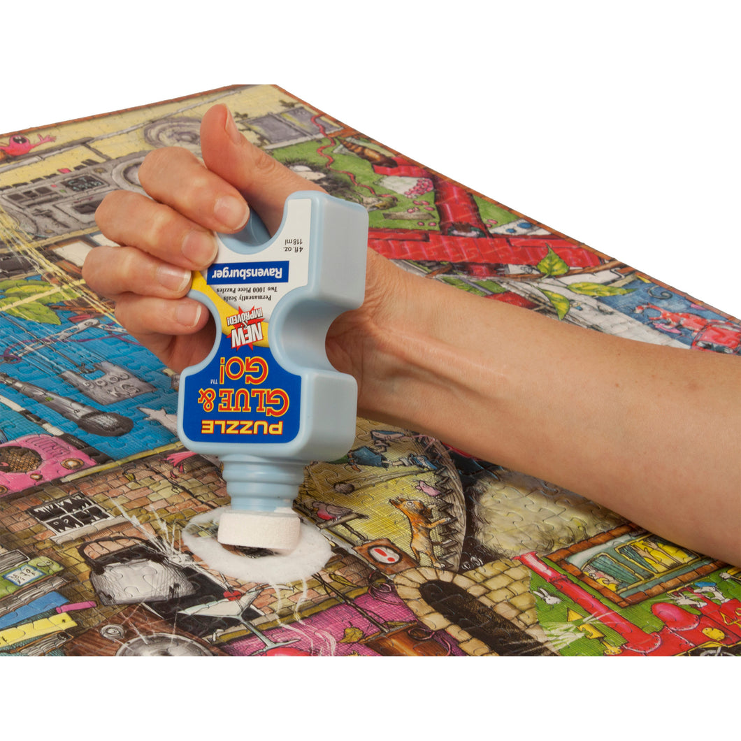 Puzzle Glue in use.