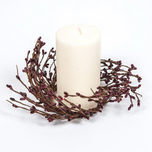 Burgundy rice berry Candle ring.