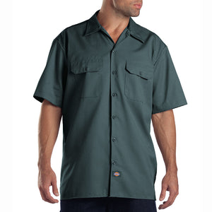 Dickies mens short sleeve shirt Lincoln Green