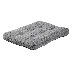 Gray, plush Ombre swirl pet bed.