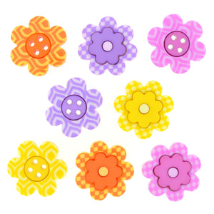Dress It Up Buttons Bright Blossoms 8307