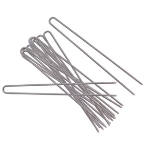 Uncoated stainless steel hairpins.
