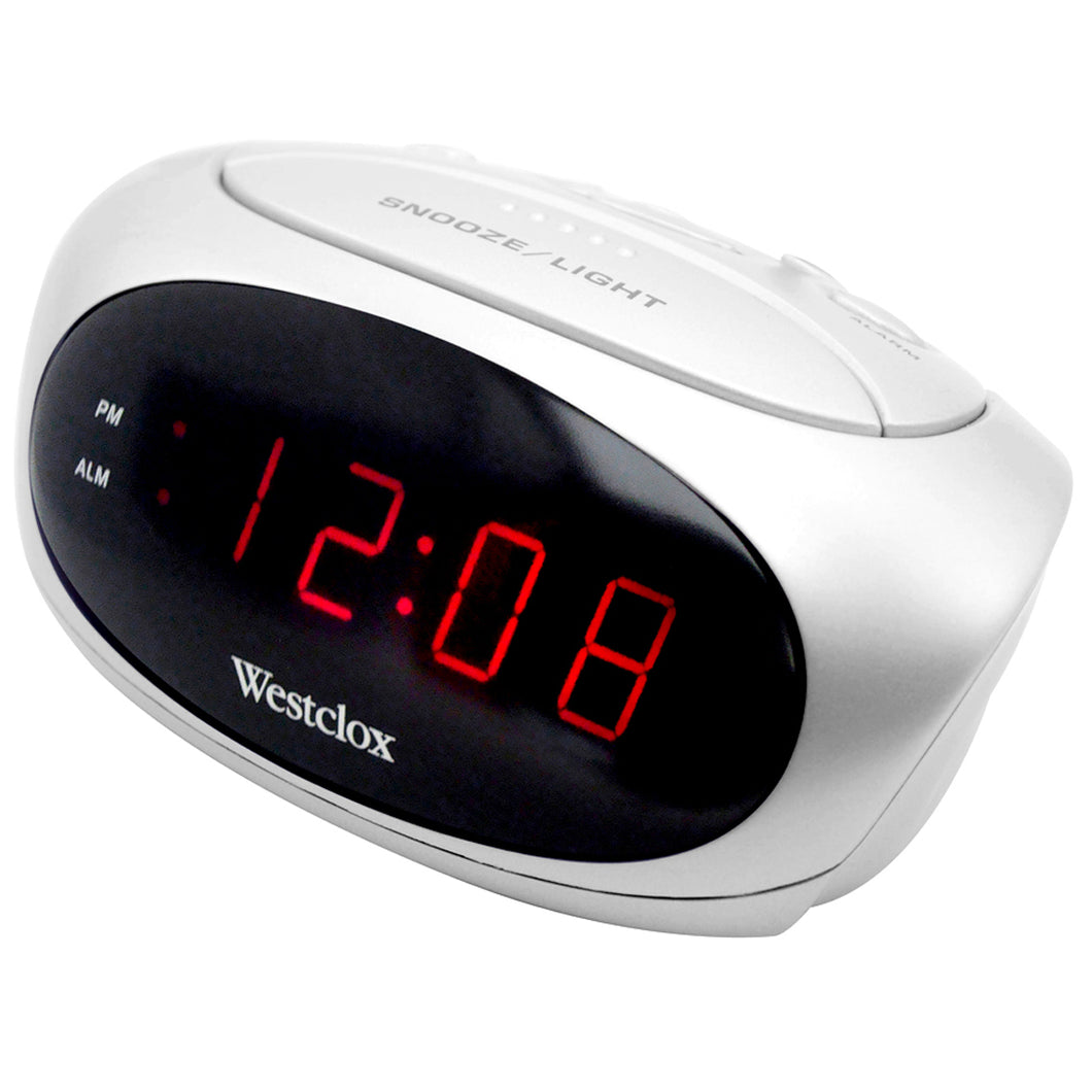LED alarm clock white