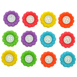 Sew Thru flower buttons.