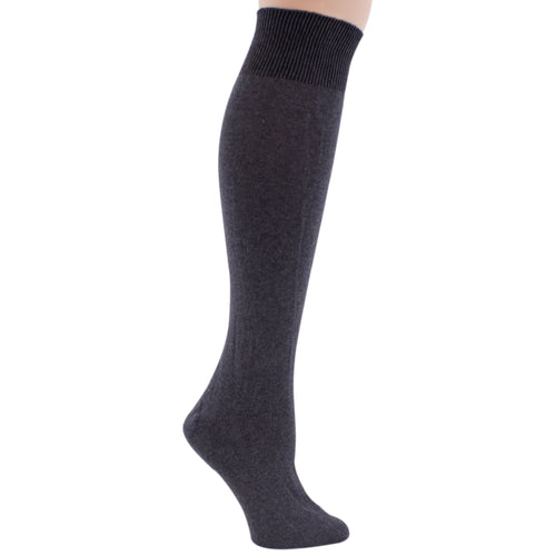 Womans Knee High Charcoal Gray Socks.
