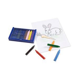 Crayons and coloring page