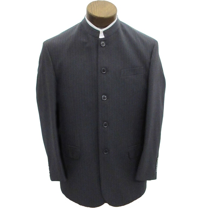 Charcoal coat with pinstripes