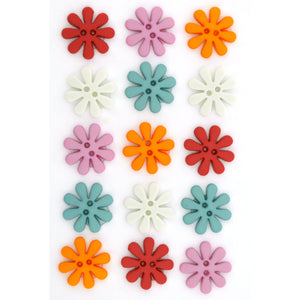 Sew Through flower buttons.