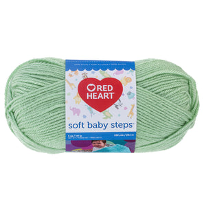 Baby Green Red Heart yarn.