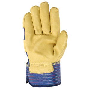 Wells Lamont Leather glove palm-side up.