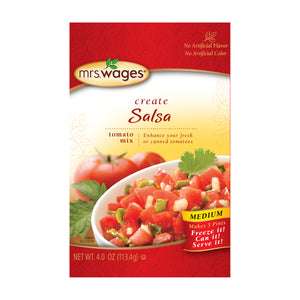 Pack of Mrs. Wages Medium salsa mix.