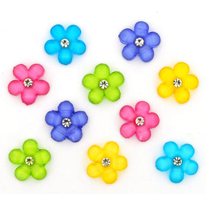 Flower gem buttons
