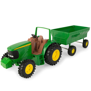 John Deere TOMY toys Tractor and wagon.