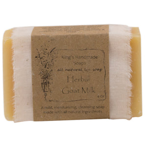 Herbal Goat Milk bar soap.
