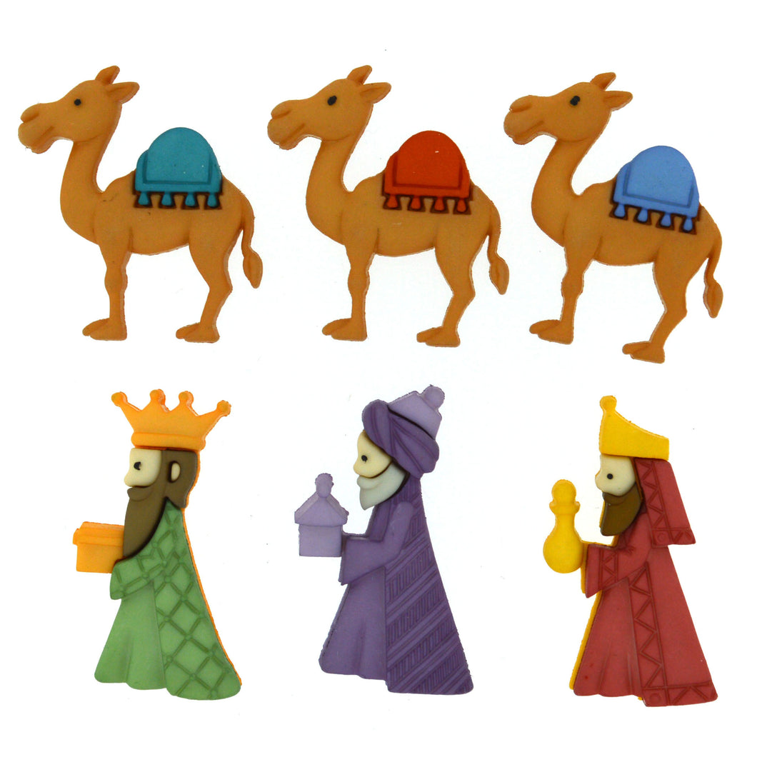 Dress It Up Buttons We Three Kings 8048