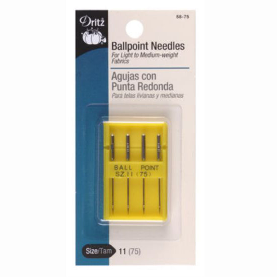 Dritz Ballpoint Machine Needles Size-11 S-58-75