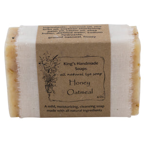 Handmade Honey Oatmeal Soap.