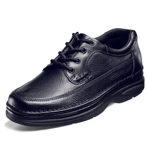 Black Nunn Bush Cameron oxford leather shoe.