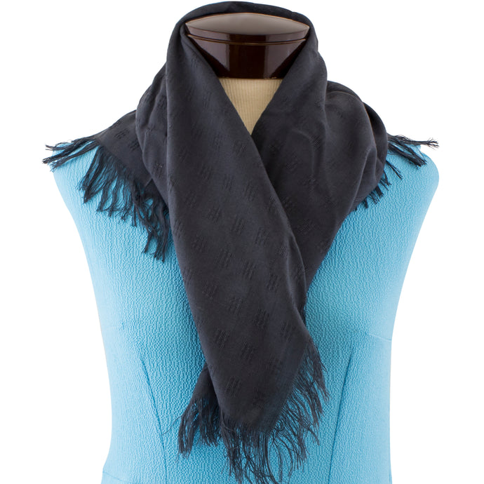 Charcoal Gray scarf.