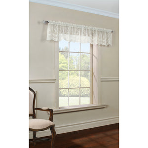Shell lace valance.