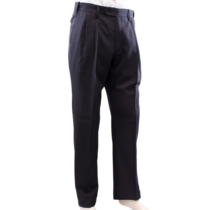 Mens black dress pants.