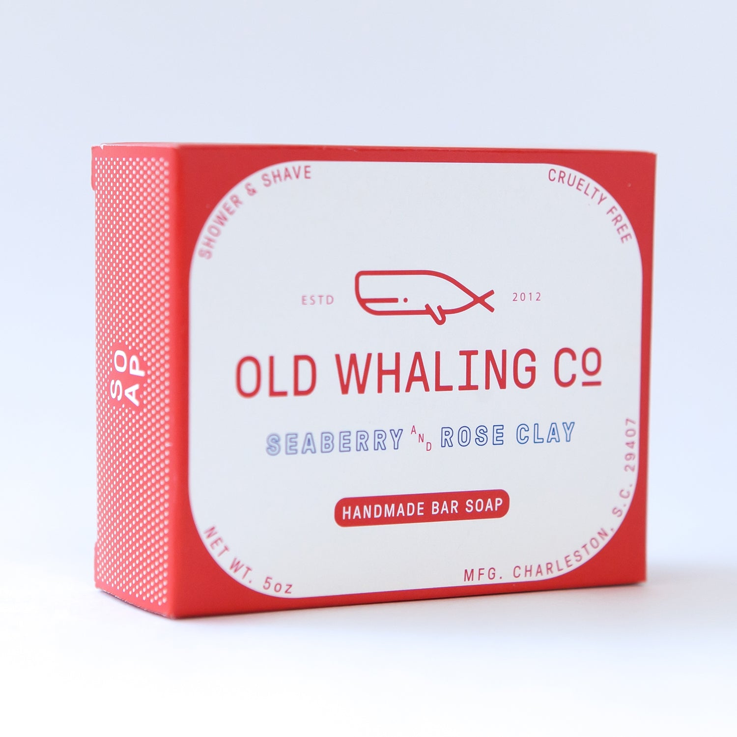 Old Whaling Co Handmade Bar Soaps- Seaberry & Rose Clay