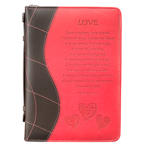 Pink Love Bible Cover BBM310