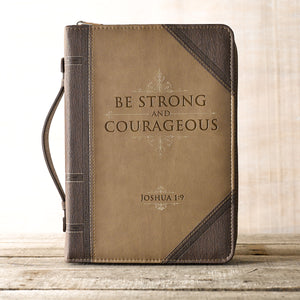 Be Strong and Courageous Bible Cover BB592