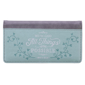All Things are Possible Checkbook Cover CHB048