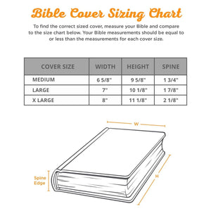 2 Tone Faux Leather Bible Cover BBM685
