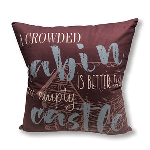 Crowded Cabin Accent Pillow DAP10044