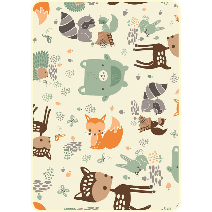 Forest Friends Faux Fur Baby Blanket DBB108