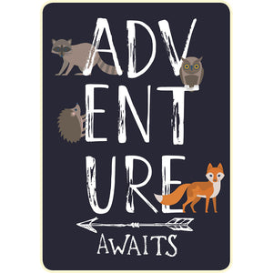 Adventure Awaits Faux Fur Baby Blanket DBB109